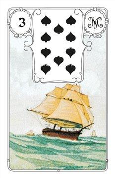 Karte Schiff im Lenormand