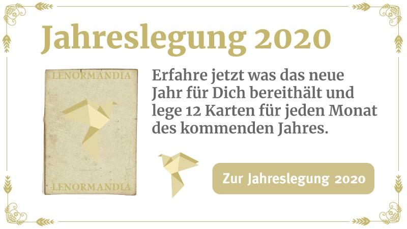 Jahreslegung Lenormand 2020