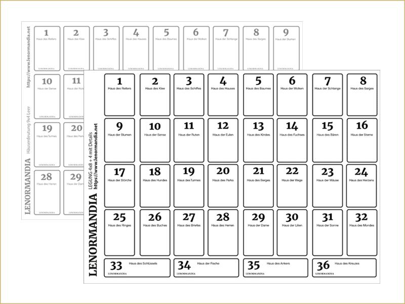 Häuserschablone Lenormand leer (PDF)(