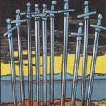 Zehn der Schwerter - Tarot Karte Deutung und Bedeutung