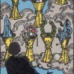 Sieben der Kelche - Tarot Karte Deutung und Beschreibung