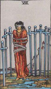 Acht der Schwerter - Tarot Karte Deutung und Bedeutung