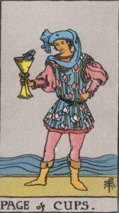 Bube der Kelche - Tarot Karte Deutung und Beschreibung